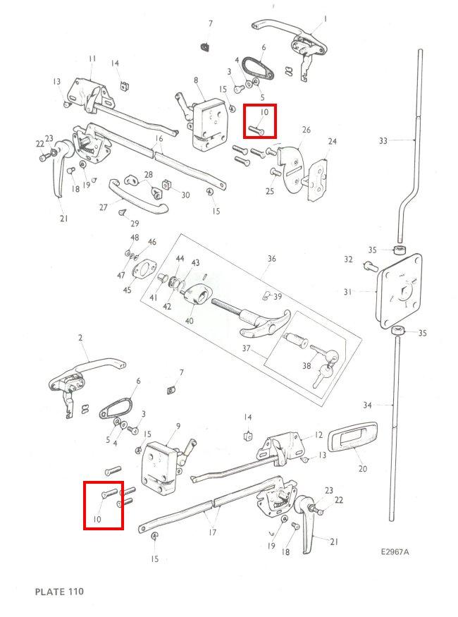 classic mini door lock screws x 8 stainless 1275gt cooper