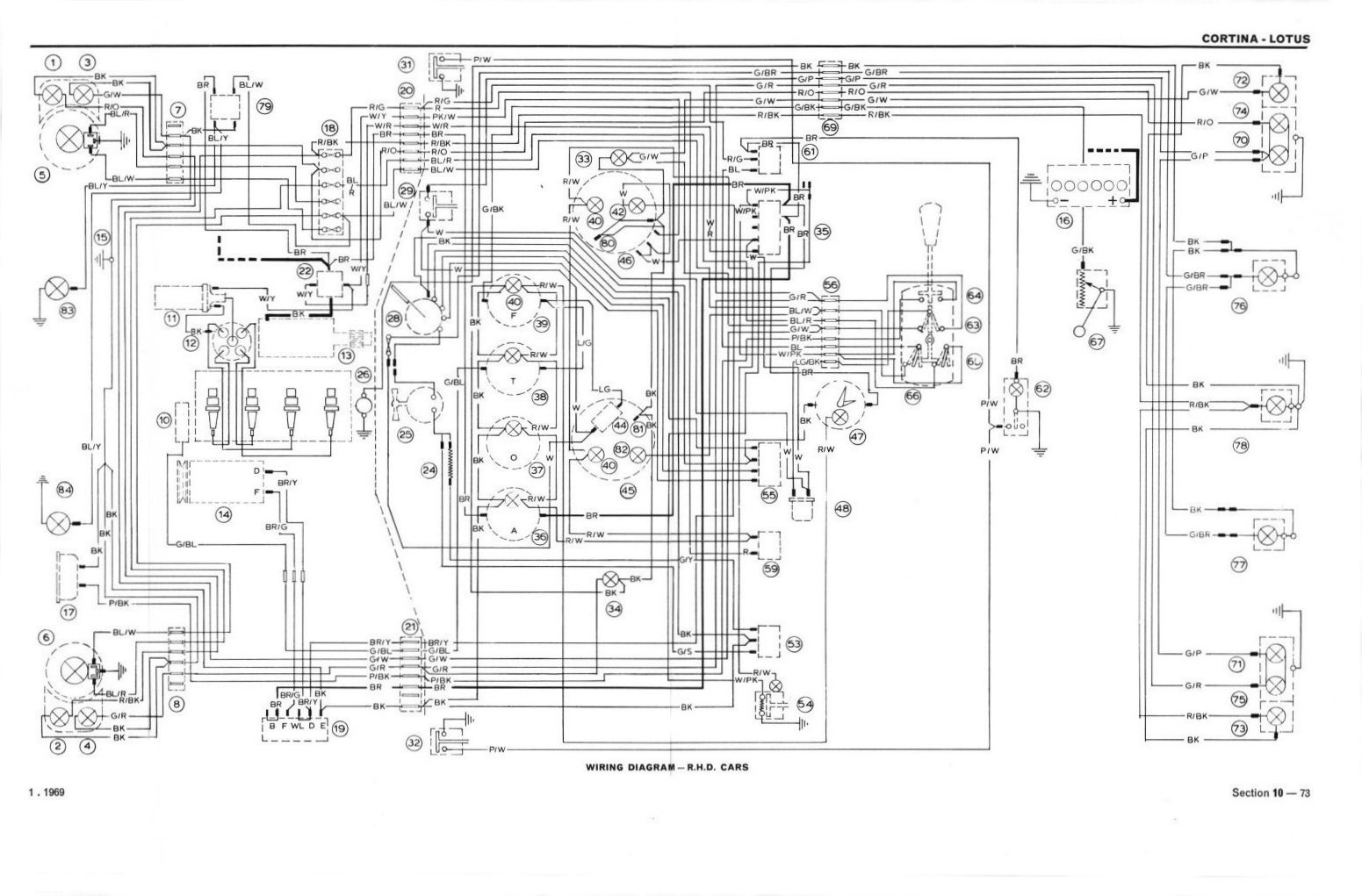 Wiring Diagram Jaguar Mk2 Schematics Diagrams Fender B Full A3 Fold Out Lotus Cortina Free Uk