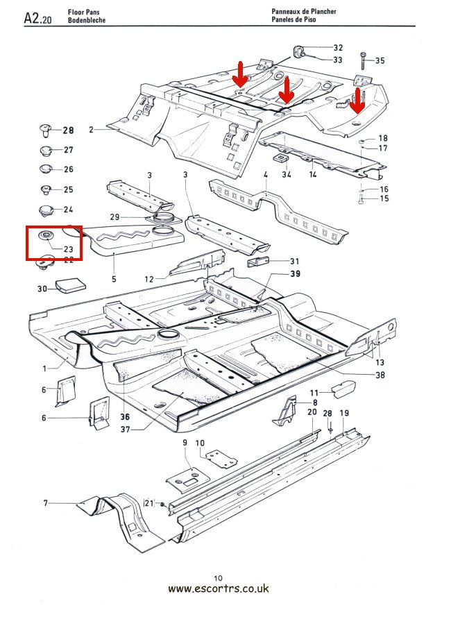 Boot Floor Grommets X 3 Mk1  U0026 Mk2 Escort Rs 2000 Mexico