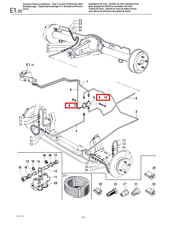 Mk1 Escort Brake Pressure Differentail Valve Fixing