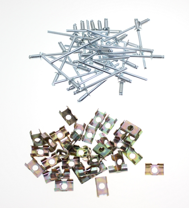 Mk1 Escort Chrome Trim Clip Set (1300E) £15.95