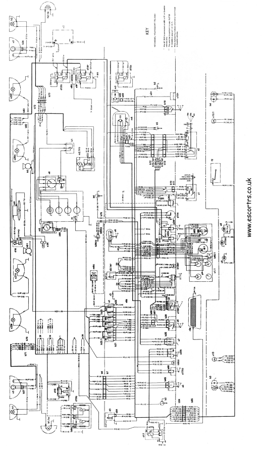 mk1 rs 2000 wiring diagram  full set  mk1 escort avo