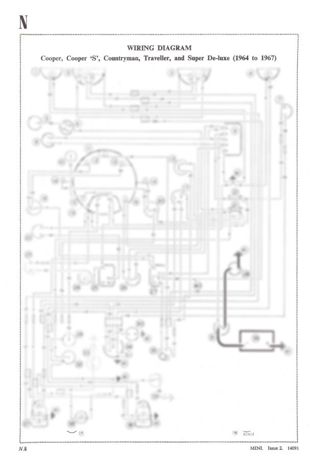 Classic Mini Cooper Cooper  U0026 39 S U0026 39  Contryman A3 Wiring Diagram