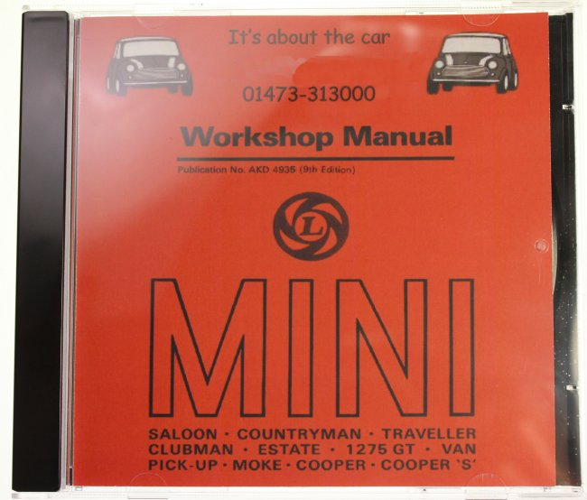 Classic Mini Workshop Manual Cd