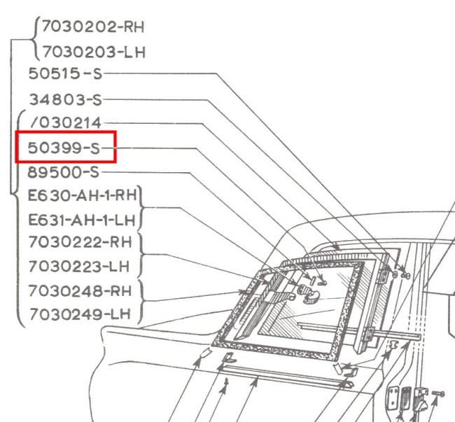 mk1 cortina airflow rear window hinge stainless steel