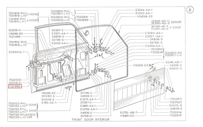Mk1 Cortina Door Lock Mechanism Bar Retaining Clips X 4 Gt