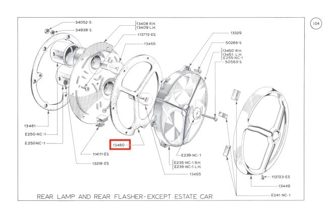 mk1 cortina rear light lens seals gt lotus tvr grantura
