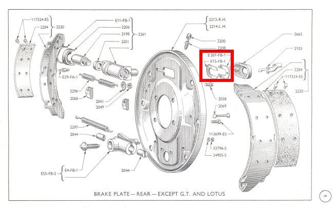 Mk1 Cortina Rear Brake Retaining Clips Girling Type 75 Gt