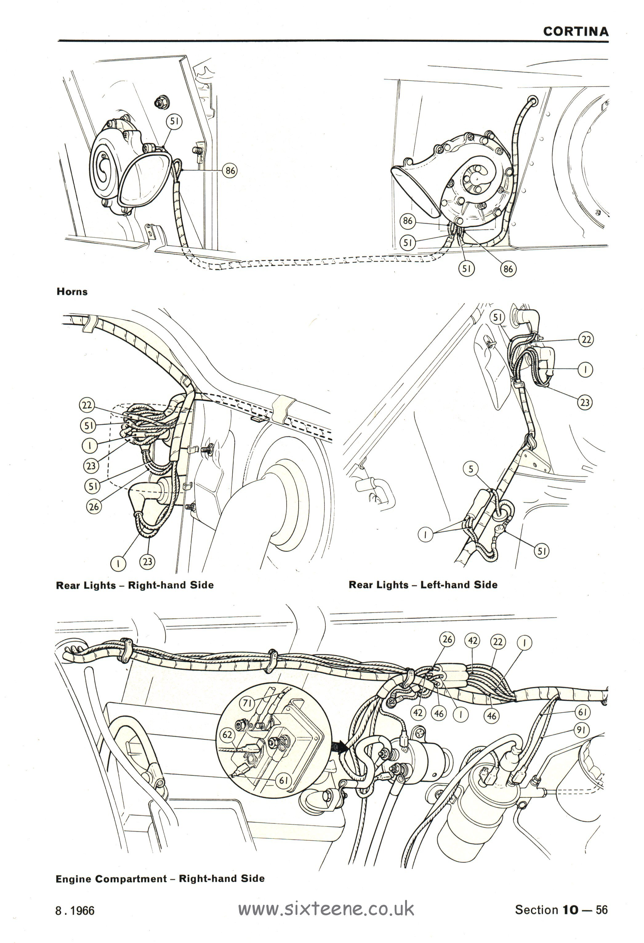 Full A3 Foldout Wiring Diagrams Mk2 Cortina Standard