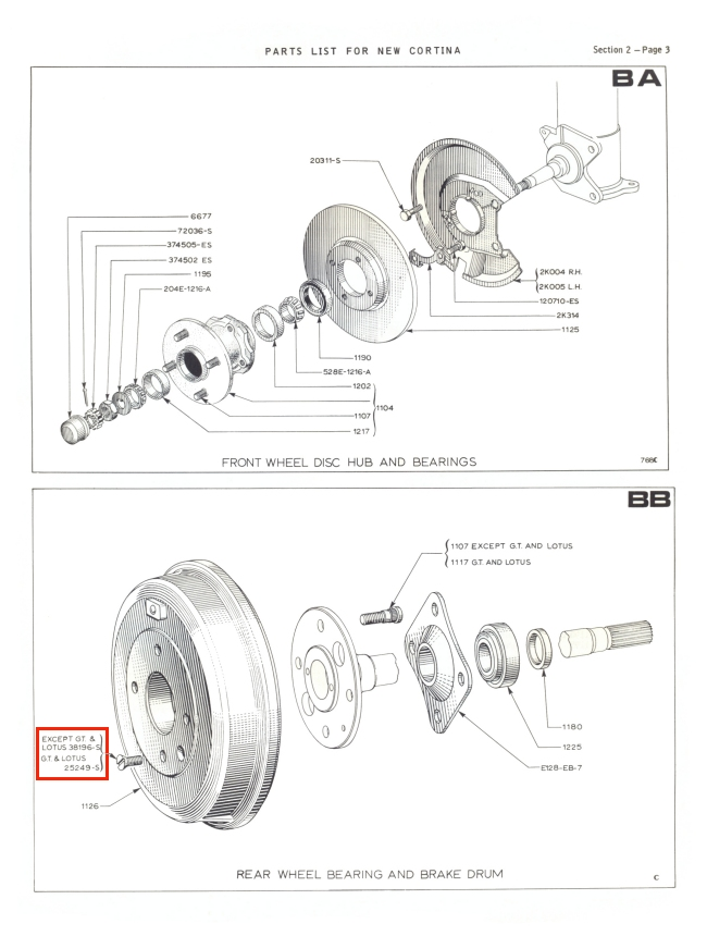 Mk2 Cortina Brake Drum Securing Screws Gt Lotus Savage