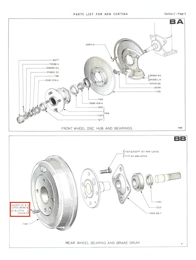 mk2 cortina brake drum securing screws gt lotus savage 1600e super de
