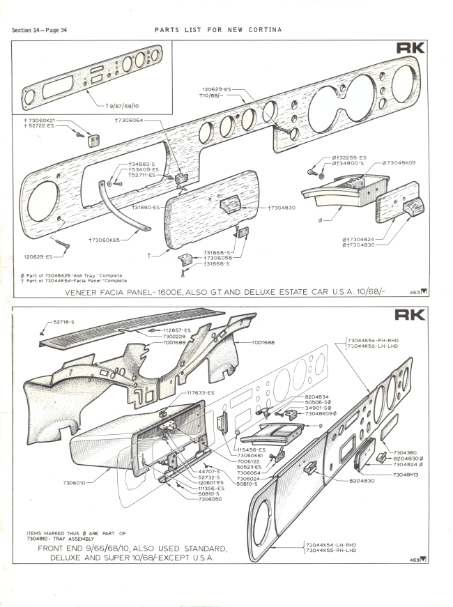 Mk2 Cortina Glove Box Ashtray Screw Set Gt Lotus Savage