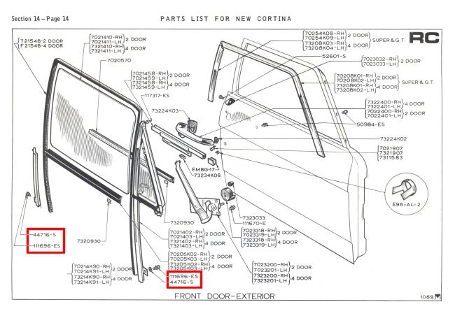 Mk2 Cortina Glove Box Ashtray Screw Set GT Lotus Savage 1600E Super De-Luxe NEW!
