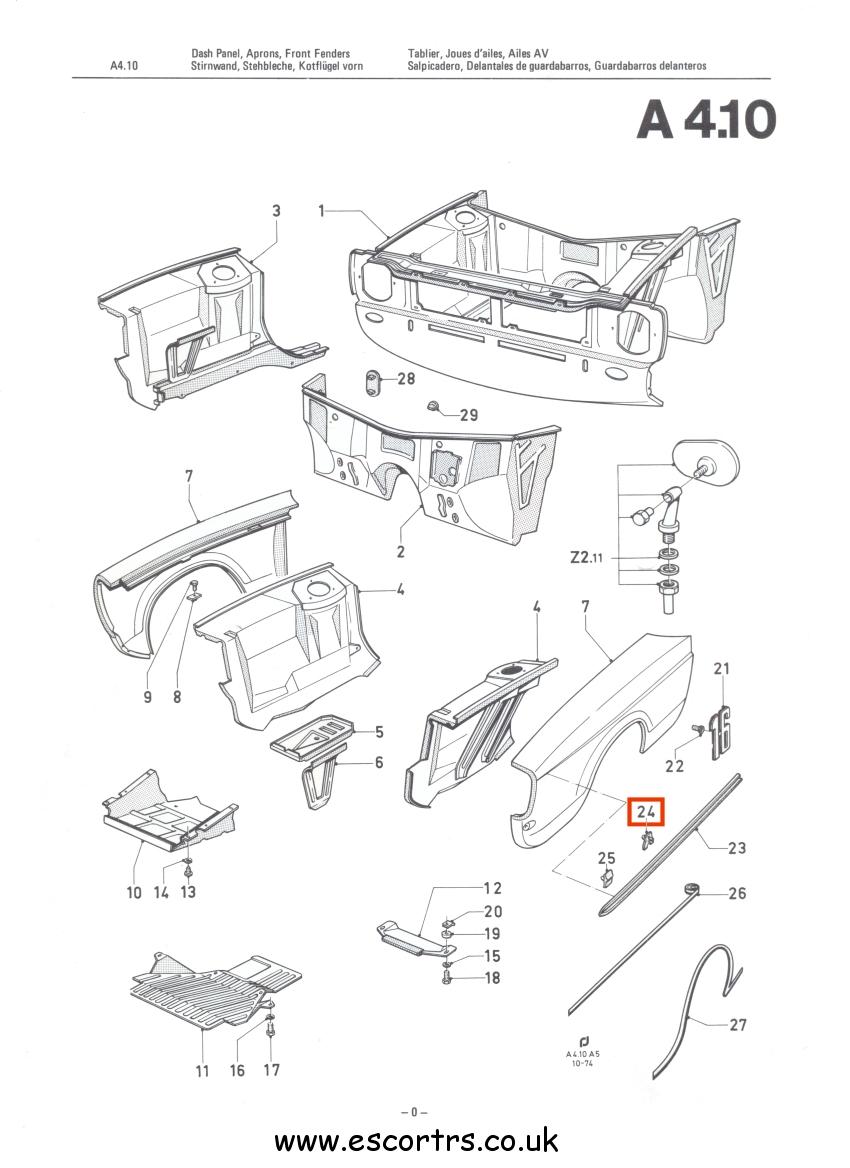 MK2 Escort side trim Chrome Clip x 32 FORD ESCORT GHIA L Brand Spanking NEW!