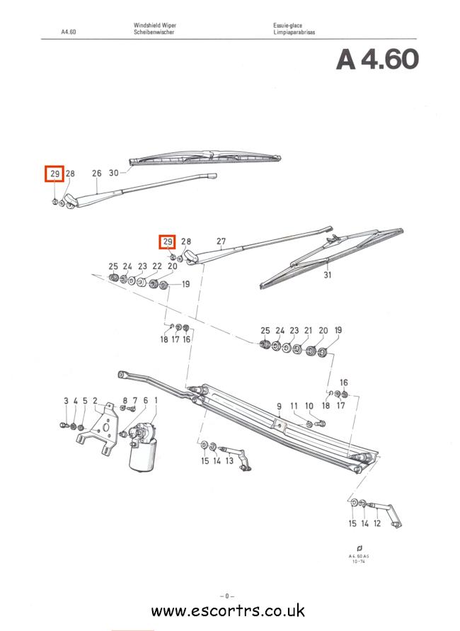 Wiper Arm Half Nuts Mk2 Escort All Models