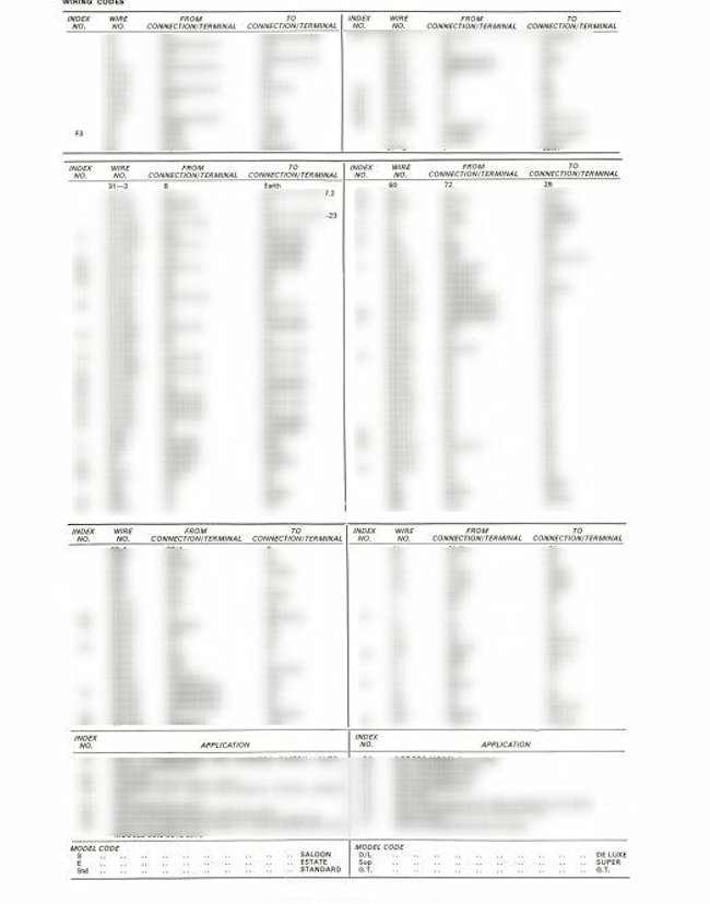 mk1 escort gt wiring diagram full set post 1969 ebay. Black Bedroom Furniture Sets. Home Design Ideas